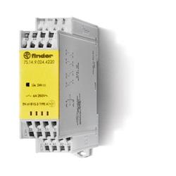 Relè con contatti guidati modulare 110 V 2 NO + 2 NC
