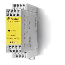 Relè con contatti guidati modulare 110 V 4 NO + 2 NC