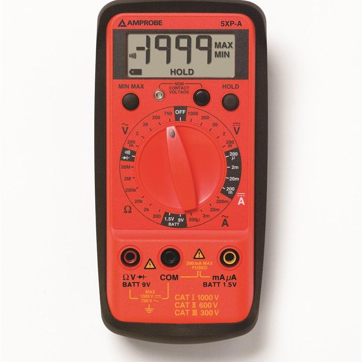 5XP-A Multimetro digitale compatto con misura tensione senza contatto