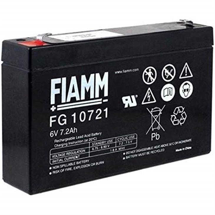 Batteria Fiamm 7,2Ah 6V