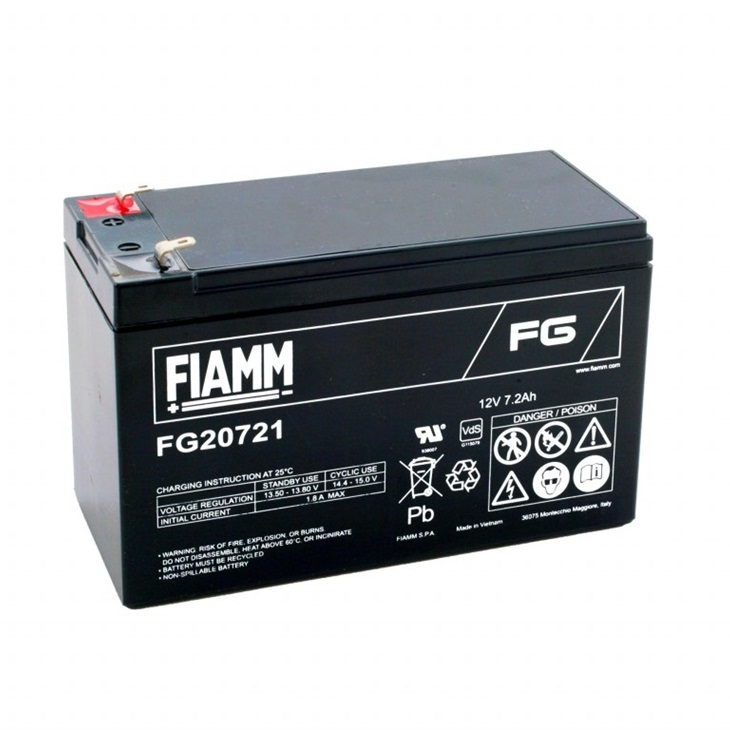 Batteria Fiamm 7,2Ah 12V