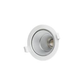 Downlight LED da incasso 10W basso UGR Bianco Neutro apertura 60º finitura Bianca