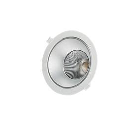 Downlight LED da incasso 20W basso UGR Bianco Neutro apertura 60º finitura Bianca