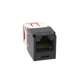 Jack modulare UTP Categoria 5e RJ45 Mini-com 8 posizioni nero