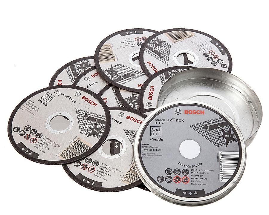 Box 10 Dischi da taglio inox per smerigliatrice GWS 700