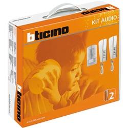 Kit audio 2 Fili con pulsantiera LINEA 2000 METAL da parete e citofoni SWING
