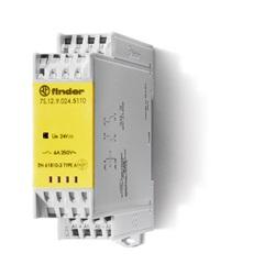 Relè con contatti guidati modulare 110...125 V 1 NO + 1 NC