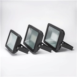 Proiettore LED Ultrasottile 50W Bianco Neutro apertura 120º  finitura Nera